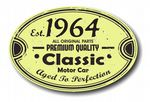 Distressed Aged Established 1964 Aged To Perfection Oval Design For Classic Car External Vinyl Car Sticker 120x80mm
